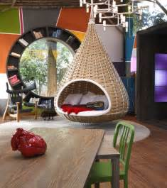 Hanging Chair In Room by 15 Playful Versatile And Comfy Hanging Chairs