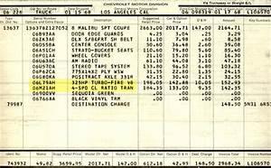 1968 Chevelle Miscellaneous Paperwork