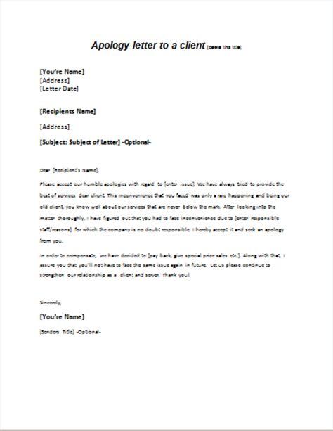 employer apology letter sample writelettercom