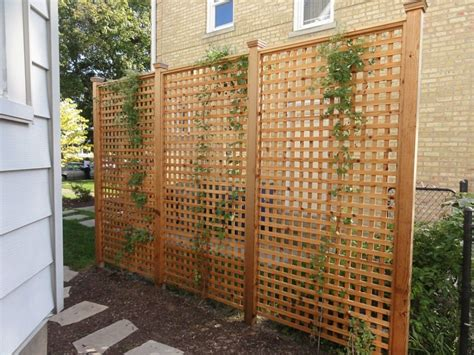 Outdoor Trellis Panels by Backyard Screens Outdoor Home Design Ideas With
