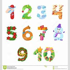 Numbers Like Symbols Of The Christmas Stock Vector  Illustration Of Arithmetic, Five 44855833