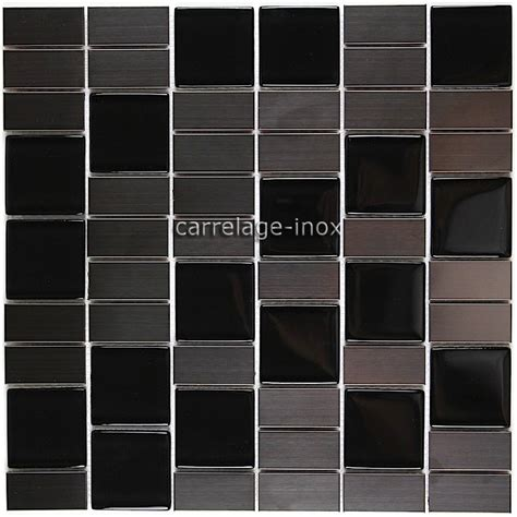 carrelage cuisine mosaique carrelage cuisine mosaique inox et verre noir modulo