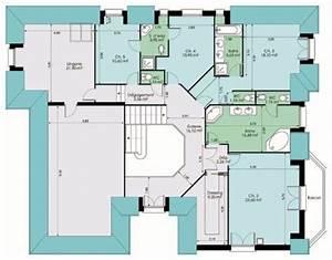 Vaste maison familiale detail du plan de vaste maison for Delightful plan de maison a etage 7 maison en bois sur mesure detail du plan de maison en