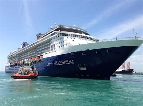 celebrity millennium emerges from dry dock with new livery