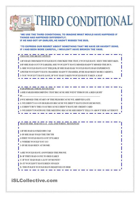 conditional english teaching resources multi step