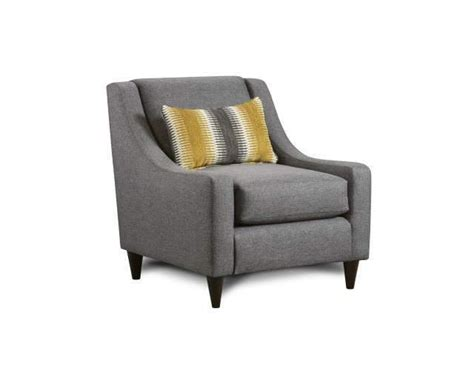 fusion furniture maxwell gray accent chair great