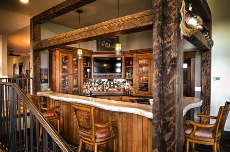 40427 rustic bar ideas rustic bar with columns by cabinet concepts by design