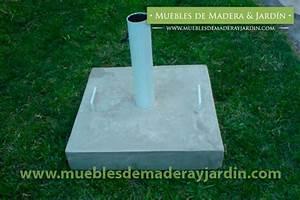 Parasol De Jardin : base de sombrillas para jardin el blog de muebles de madera y jardin com ~ Teatrodelosmanantiales.com Idées de Décoration