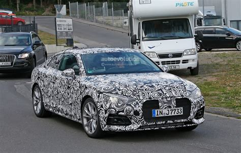 first audi first spy photos of 2017 audi a5 coupe show wider sexier
