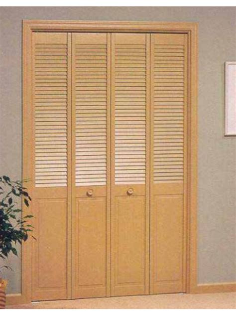 louver panel bifold doors pine custom size by
