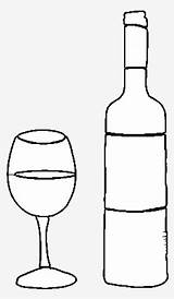 Bottle Glass Botella Dibujo Liquor Coloring Vino Template Colorear Wine Seekpng sketch template