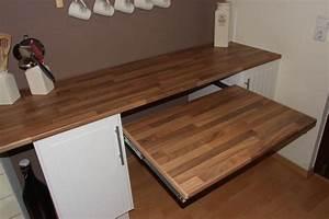 Tisch Für Handkreissäge : ausziehbarer tisch unter der k chenarbeitsplatte bauanleitung zum selberbauen 1 2 ~ Frokenaadalensverden.com Haus und Dekorationen