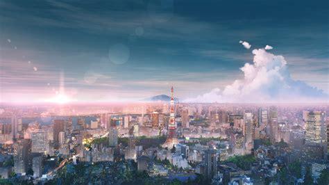 blue anime aesthetic wallpaper 4k