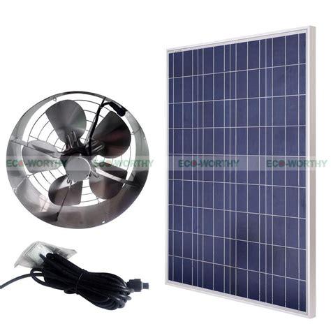 best solar gable fan eco worthy 3000 cfm vent fan kits 100w solar panel 65w
