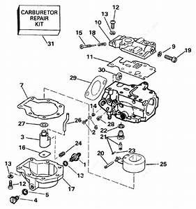 Johnson 1991 25 - J25reie  Carburetor 20