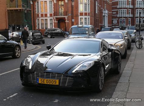 Aston Martin One-77 Spotted In London, United Kingdom On