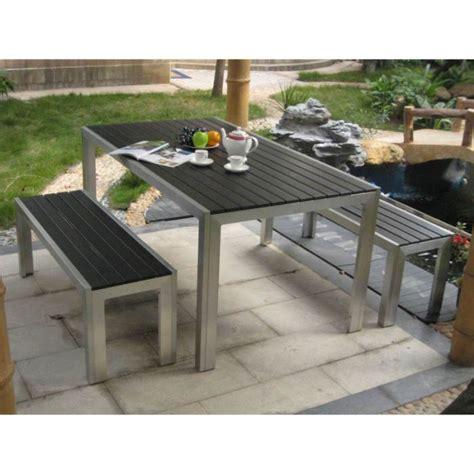 table et banc de jardin en palette jsscene com des