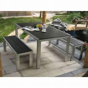 Table Et Banc De Jardin : table et bancs grimaud achat vente salon de jardin ~ Melissatoandfro.com Idées de Décoration