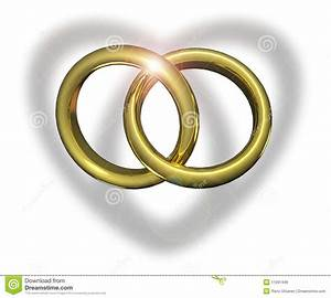 pin wedding rings linked over heart public domain clip art With linked wedding rings