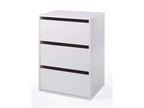 bureau de tendances bloc 3 tiroirs verona coloris blanc vente de accessoires