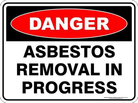 asbestos signs australian safety signs