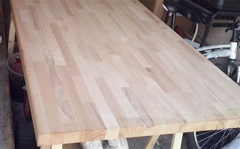 plan de travail hetre r 233 novation de cuisine avec plans de travail en h 234 tre massif le du bois