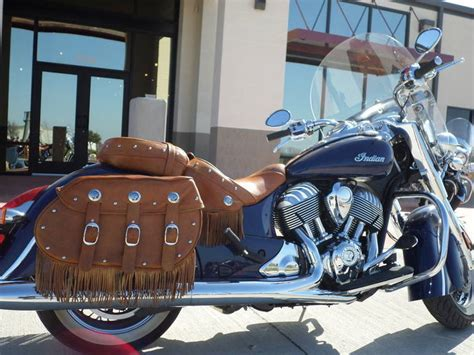 2014 Indian Chief Vintage Springfield Blue Motorcycle From