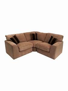 Small sectional fabric sofa for small space in brown and for Sectional sofas in small spaces
