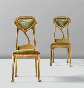 Art Nouveau Mobilier : art nouveau chairs by hector guimard 1900 art nouveau ~ Melissatoandfro.com Idées de Décoration