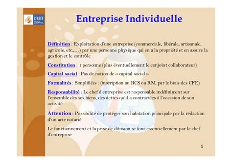 chambre commerciale entreprise individuelle ou societe 1