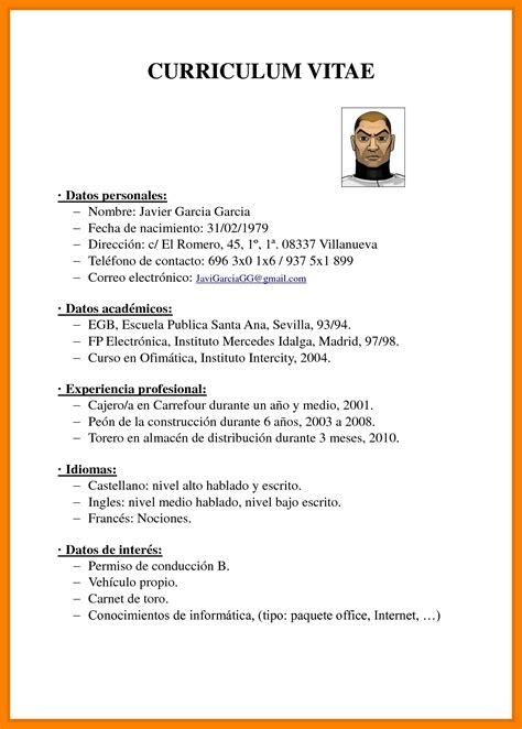 Curriculum Vitae Pdf by Modelo De Curriculum Vitae 2018 Pdf Modelo De Curriculum