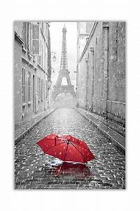 black and white photo paris eiffel tower with red umbrella With kitchen colors with white cabinets with red umbrella canvas wall art