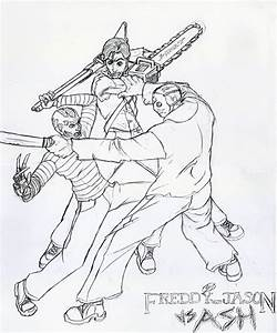 Freddy vs. Jason vs. Ash by zakukun on DeviantArt