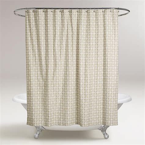 shower curtains world market sand geo shower curtain world market
