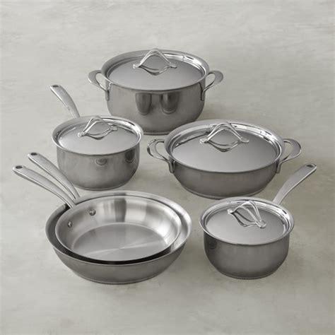 lagostina opera stainless steel  piece cookware set williams sonoma