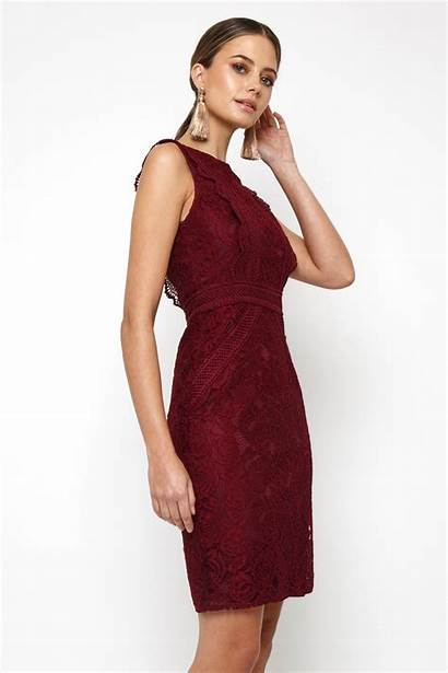 Mini Burgundy Vania Tfnc Party Dresses