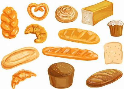 Bread Watercolor Toast Cinnamon Clip Bakery Illustrations