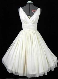 wedding dresses 50s style gown tea length wedding dress With 50s themed wedding dresses