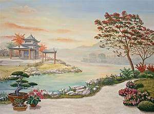 Tableau Trompe L Oeil Paysage : tableau paysage asiatique tableau asiatique sable et coquilles d ufs paysage vietnamien ~ Melissatoandfro.com Idées de Décoration