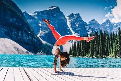 Yoga Nature Mountain Lake Tattoo Wallpapers Pants