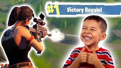 playing   year  kid fortnite battle royal