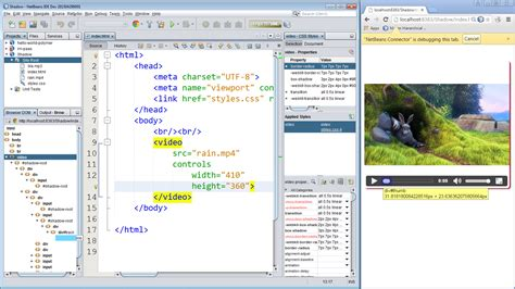 html5 audio required and data list in netbeans