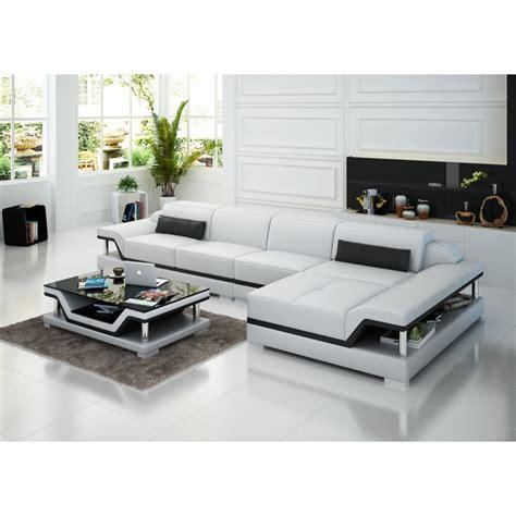 dessus de canapé canapé d 39 angle en cuir pop design fr