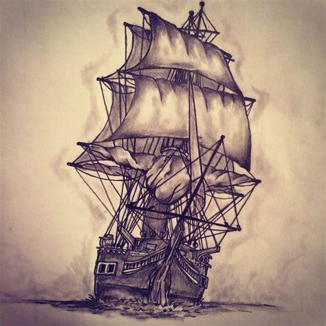 Sketch for tattoo, sailfish | Ship tattoo, Pirate ship ...