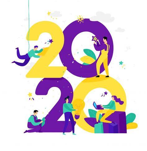 illustration    year  people work