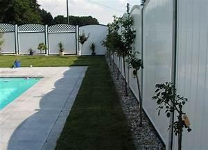 Gartenzaun Höhe Zum Nachbarn : poollandschaft mit kunststoff sichtschutz ~ Lizthompson.info Haus und Dekorationen