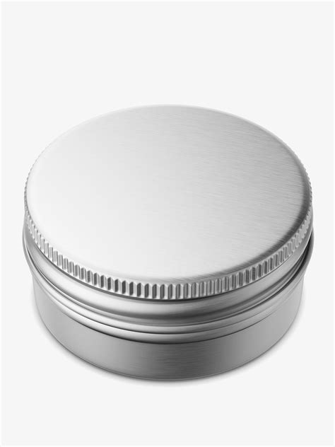 Metallized plastic bottle mockup in bottle mockups on yellow images object mockups. Small metallic tin jar mockup / top view - Smarty Mockups