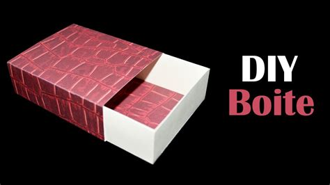 comment fabriquer une boite cadeau diy boite en papier