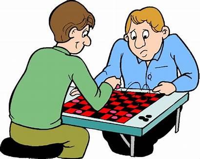 Games Clip Clipart Board Checkers Cliparts Table