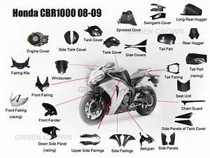 China Carbon Fiber Motorcycle Parts For Honda Cbr1000 08